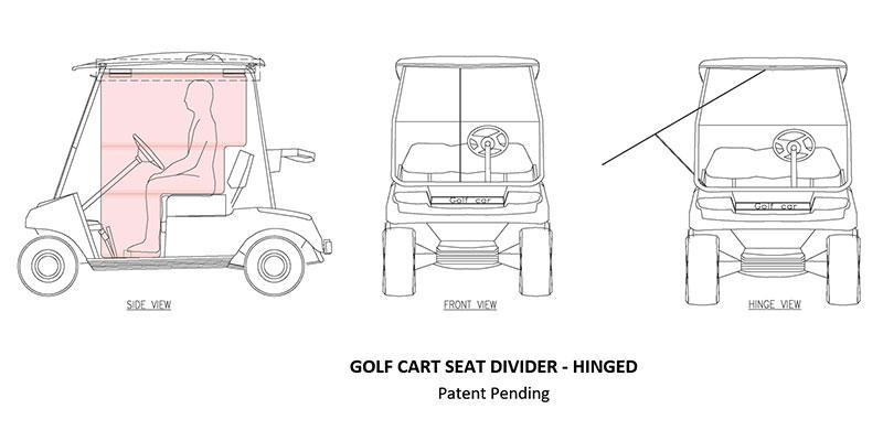 Blair Golf Cart Seat Divider